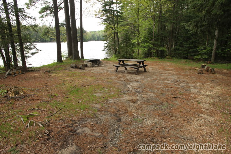 eighth lake campground map Eighth Lake Campsite Photo Database Fish Creek Pond Campground eighth lake campground map